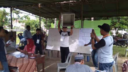 Paslon Nomor Urut 1 Unggul di Desa Tanjung Harap